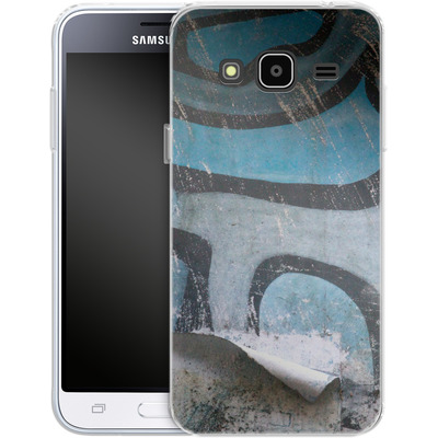 Samsung Galaxy J3 (2016) Silikon Handyhuelle - Texture Pacificwall von Brent Williams