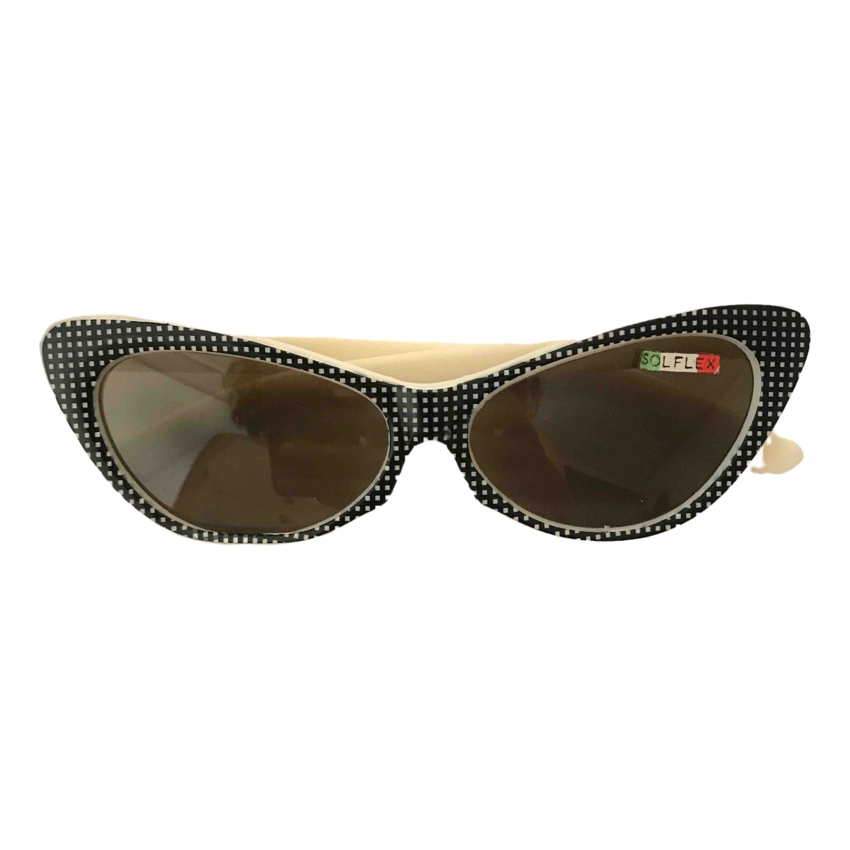 Non Signé / Unsigned Hippie Chic White Sunglasses for Women \N