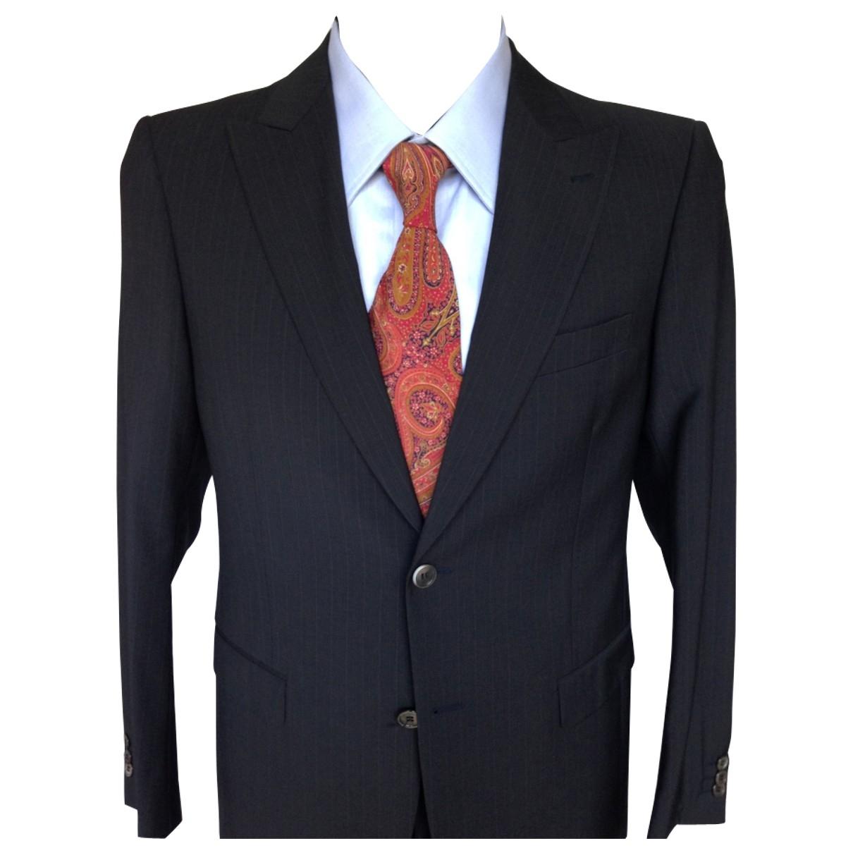 Pierre Cardin \N Blue Wool Suits for Men 48 IT