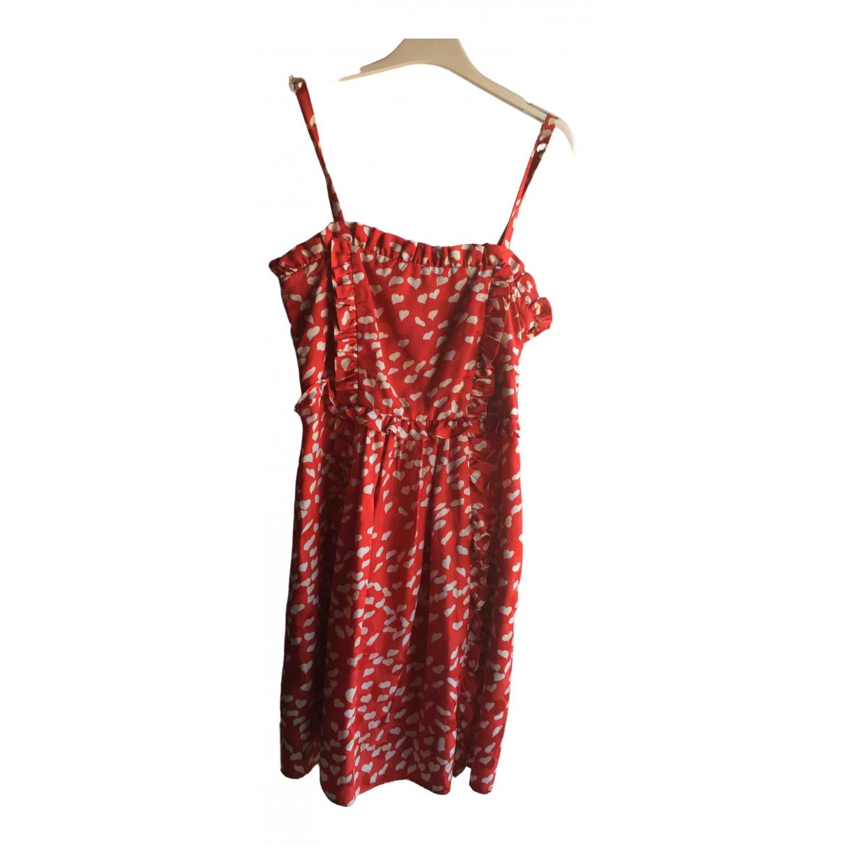 Marc By Marc Jacobs \N Kleid in  Rot Seide