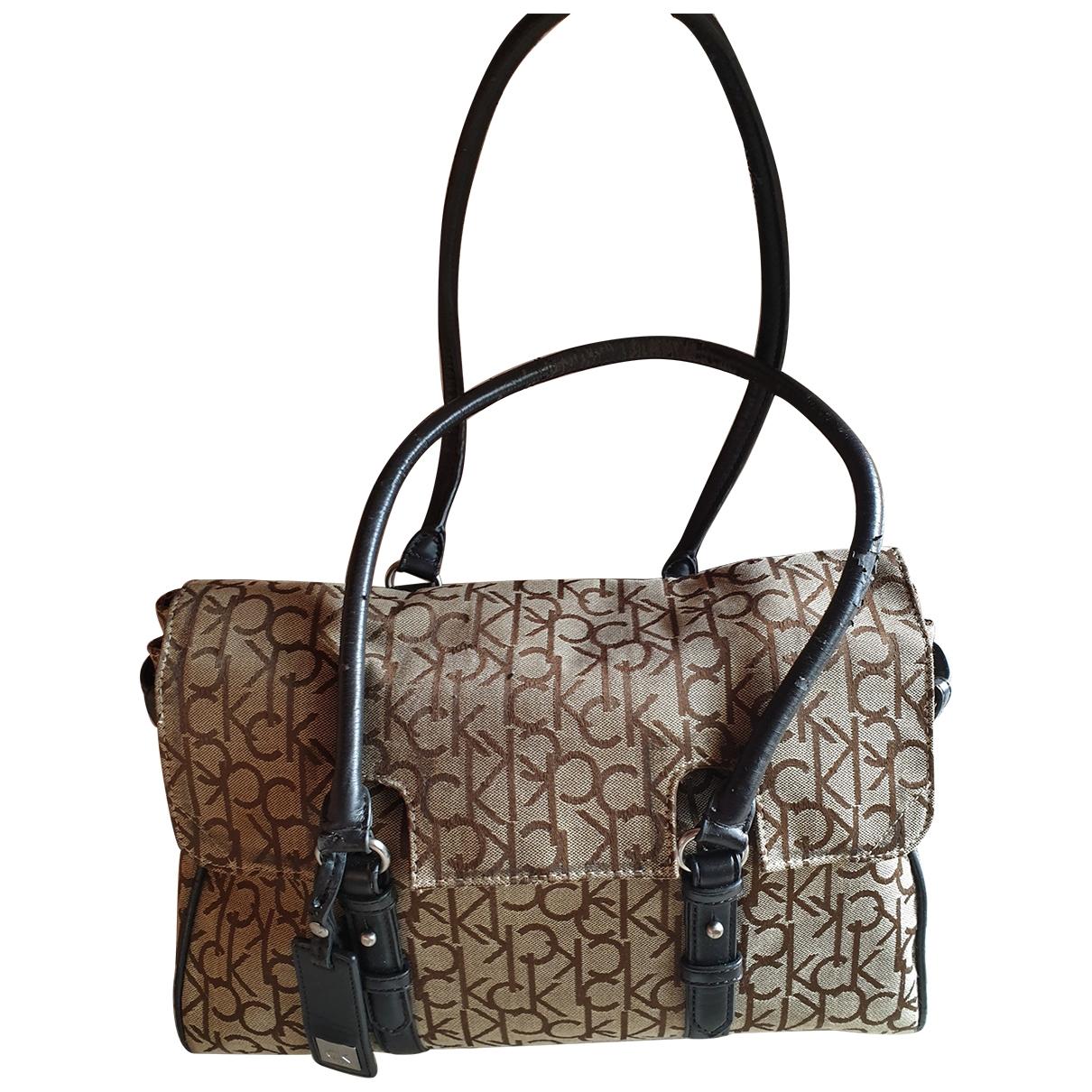 Calvin Klein \N Handtasche in  Bunt Leinen