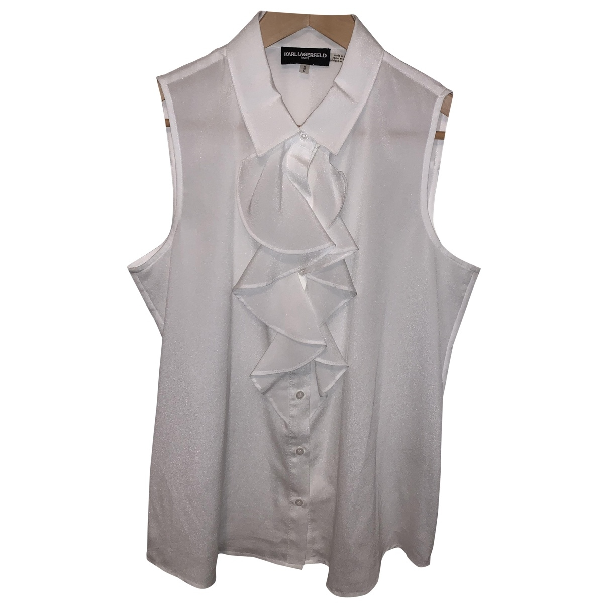 Karl Lagerfeld \N Top in  Weiss Polyester