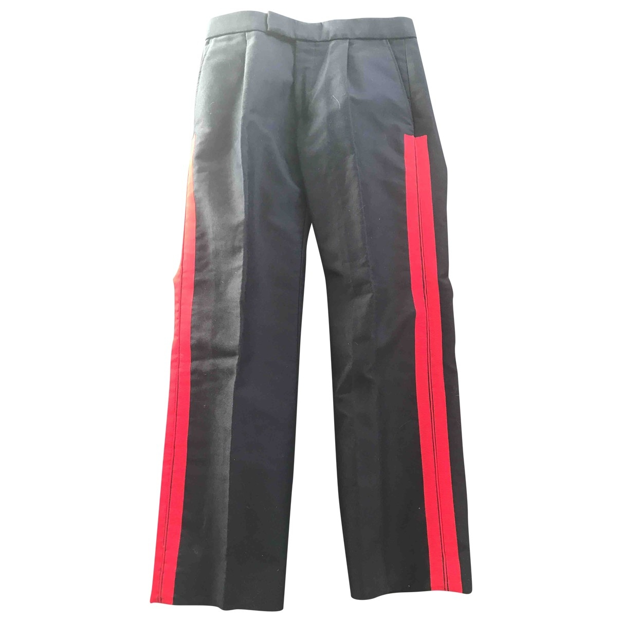 Alexander Mcqueen \N Blue Cotton Trousers for Men 46 IT