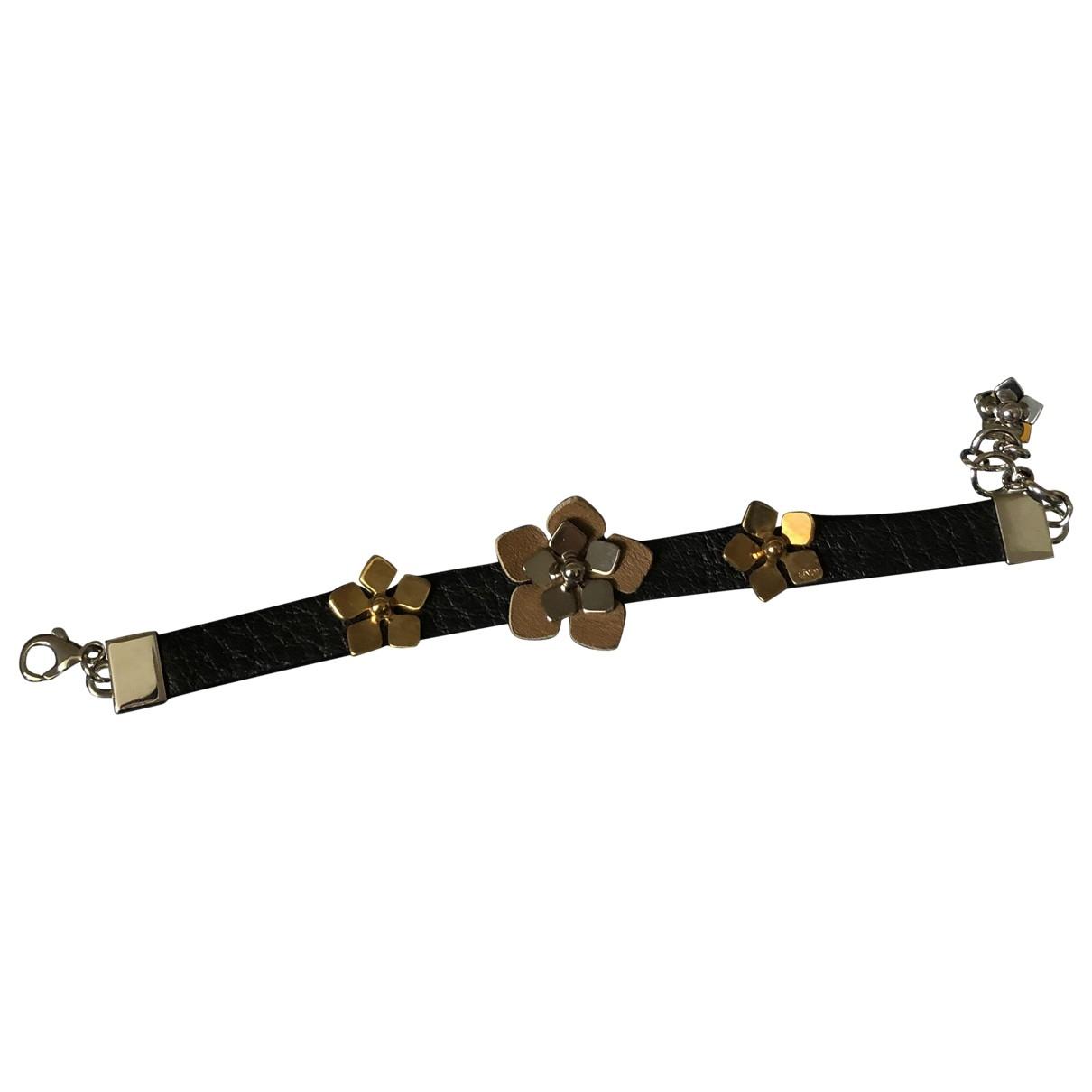 Fendi - Bracelet   pour femme en cuir - noir