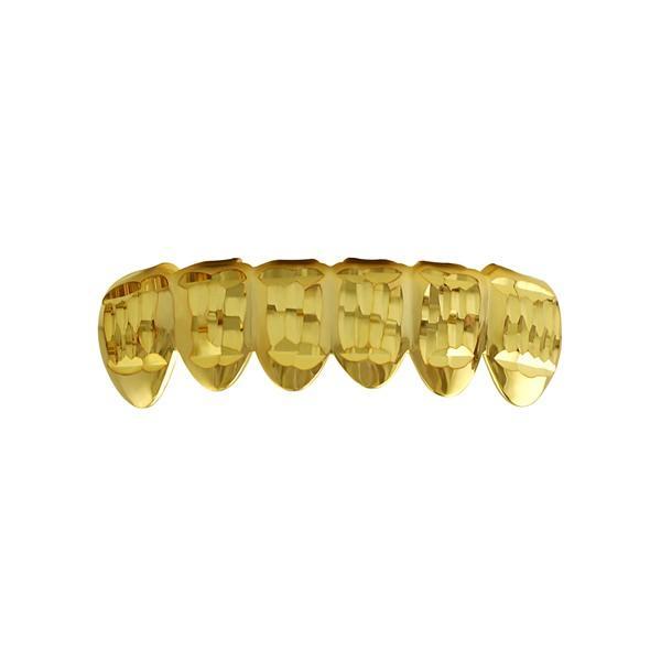 Classic Gold Grillz Diamond Cut Bottom