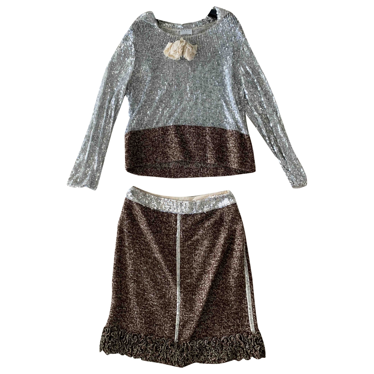 Marni - Robe   pour femme en coton - marron