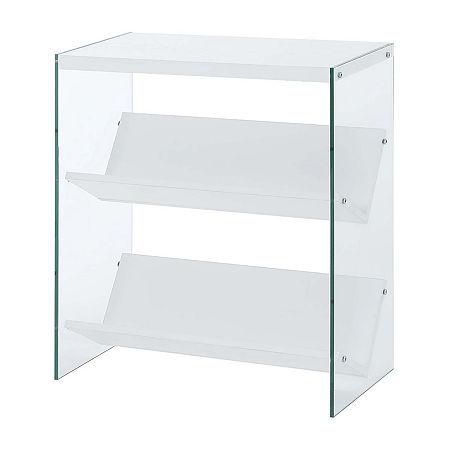 Soho Office Collection 2-Shelf Bookcase, One Size , White