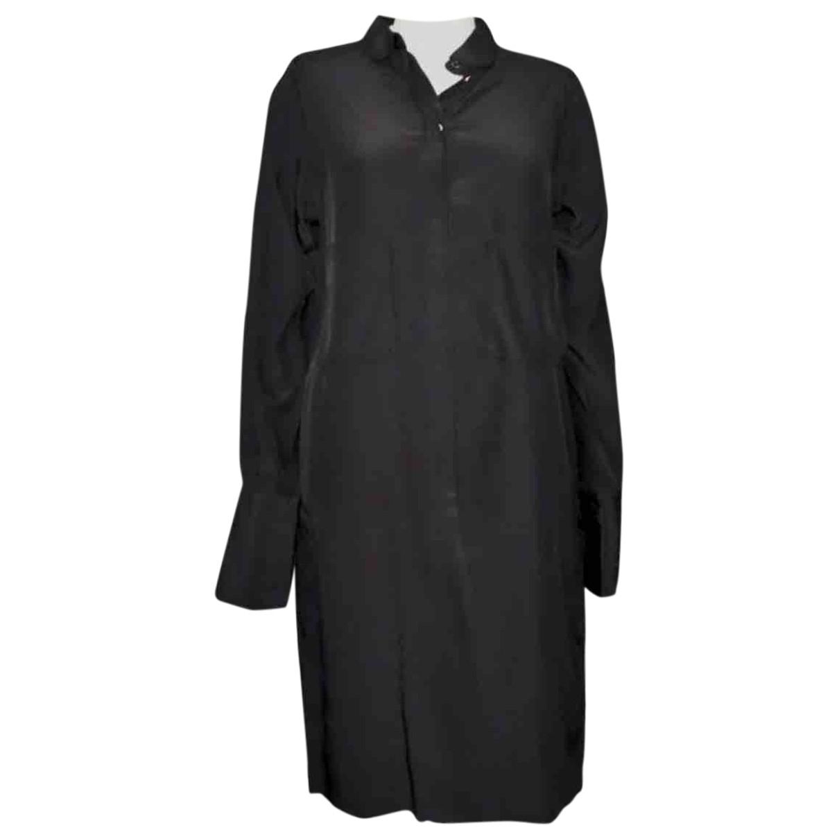 Celine \N Kleid in  Schwarz Seide