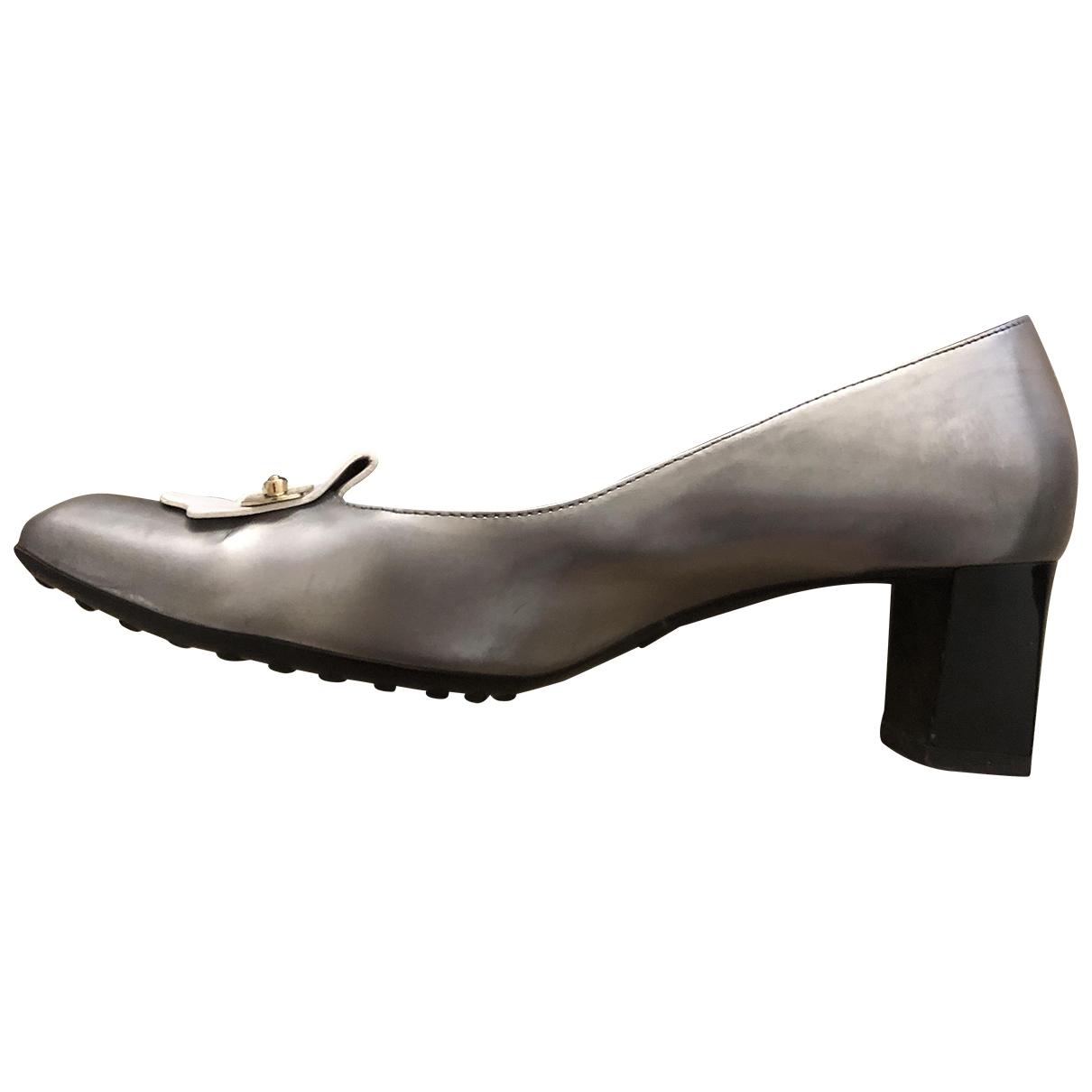 Tods - Escarpins   pour femme en cuir - argente