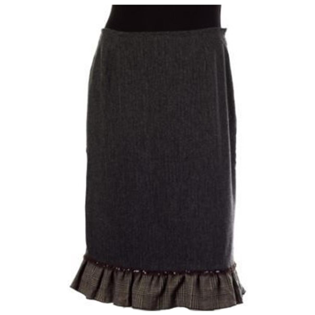 Lk Bennett - Jupe   pour femme en laine - gris