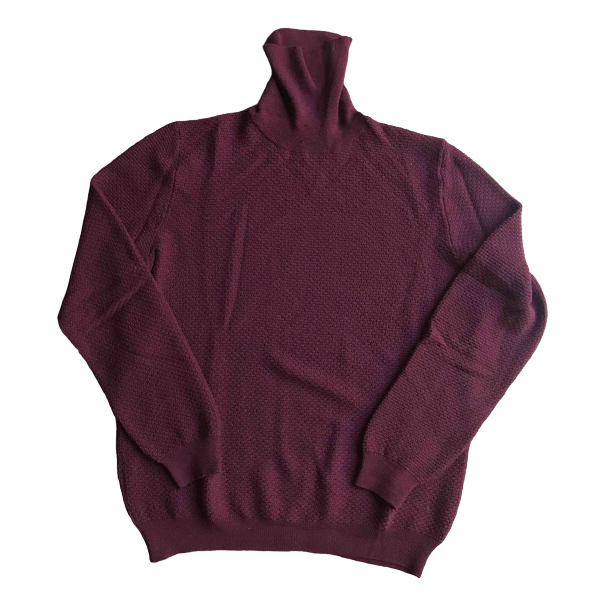 Zanone \N Burgundy Wool Knitwear & Sweatshirts for Men 54 IT