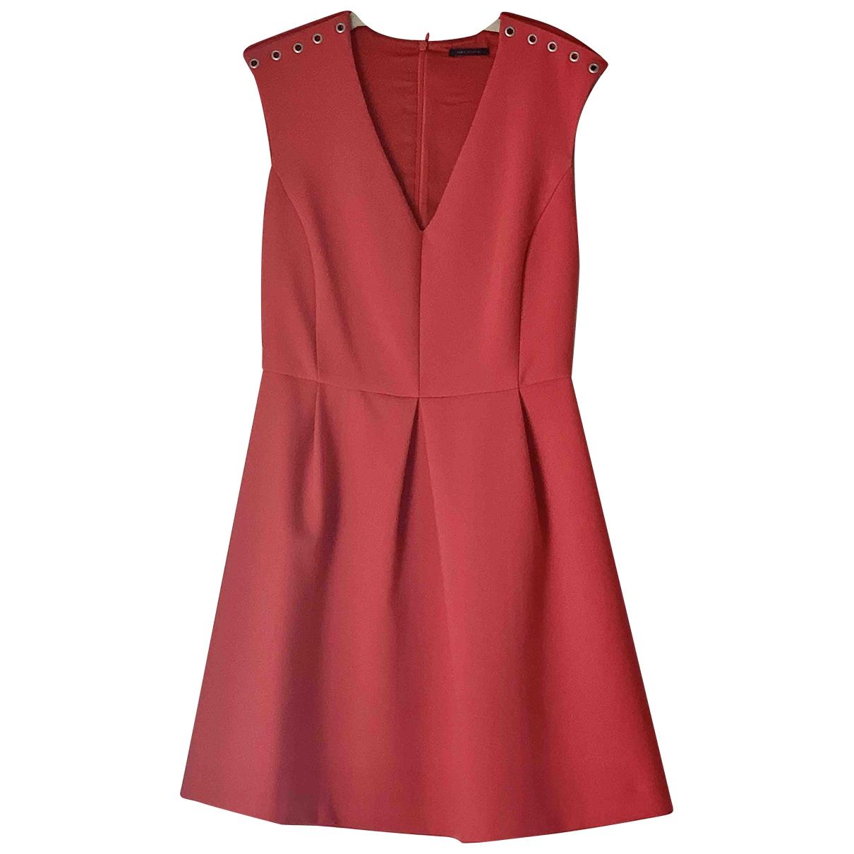 Ikks \N Kleid in  Rot Baumwolle