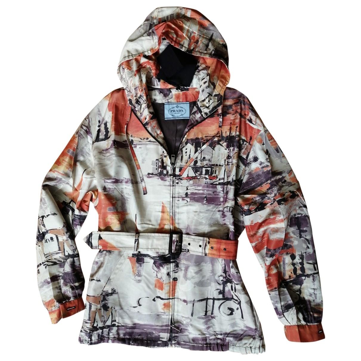 Prada \N Multicolour Silk Trench coat for Women 44 IT
