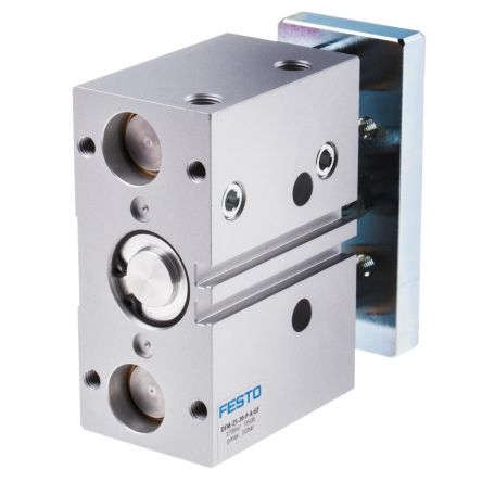 Festo Guide Cylinder 25mm Bore, 20mm Stroke, DFM Series, Double Acting