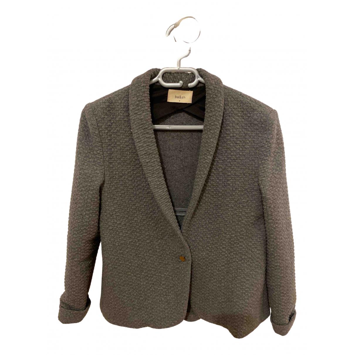 Ba&sh N Grey Wool jacket for Women 36 FR