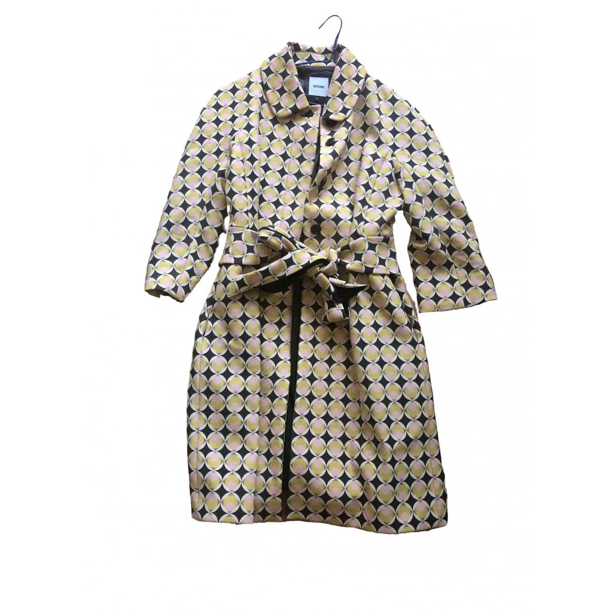 Moschino \N Yellow coat for Women 44 IT