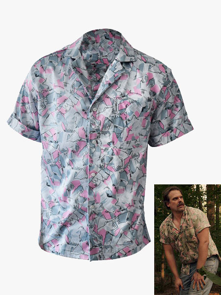 Milanoo Stranger Things Cosplay Hopper Cotton Tops Cospaly Costume