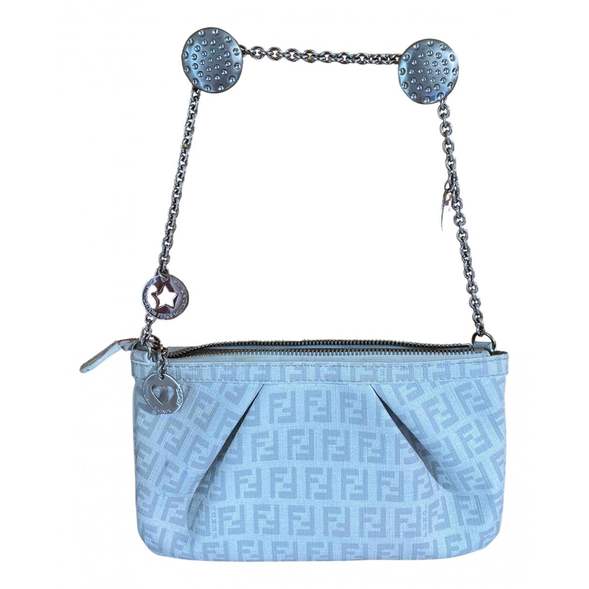 Fendi FF White Leather Clutch bag for Women N