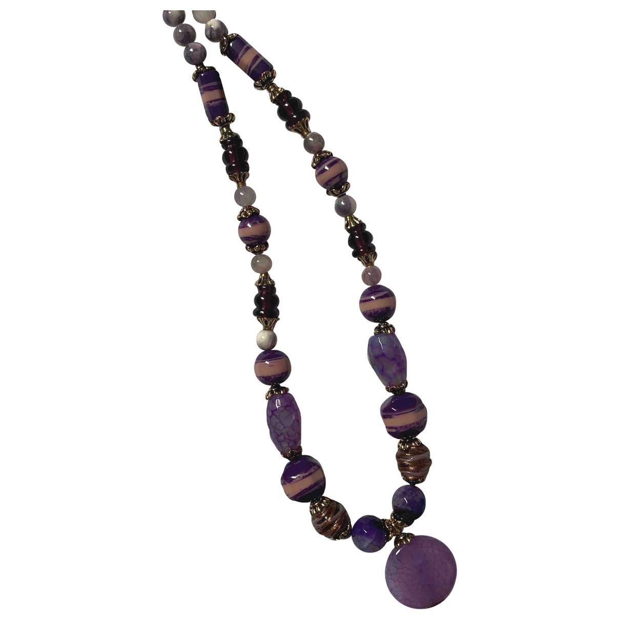 Etro \N Purple Metal Long necklace for Women \N