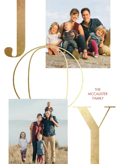 Christmas Photo Cards Mail-for-Me 7x10 Seal & Send Cards, Card & Stationery -Gilded Joy