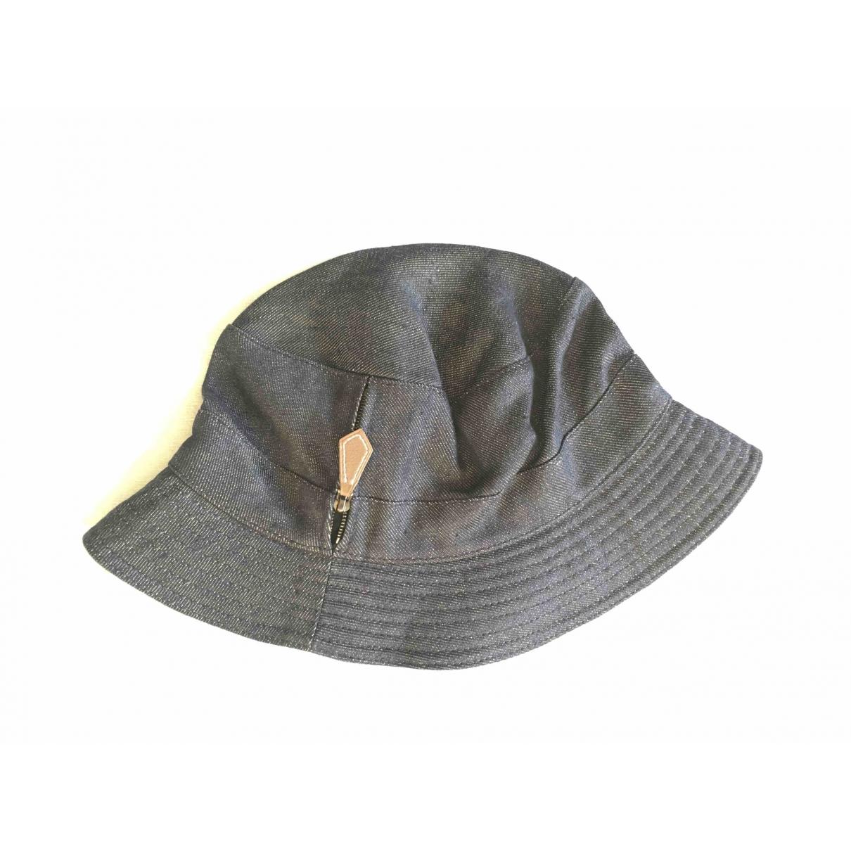 Hermes - Chapeau & Bonnets   pour homme en lin - marine