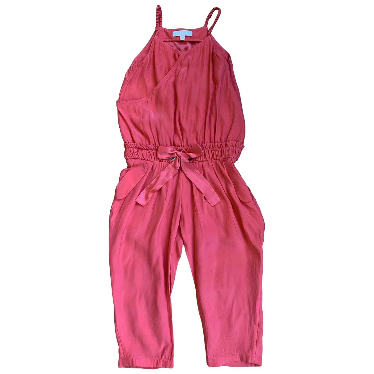 Chloe - Robe    pour enfant en soie - rouge