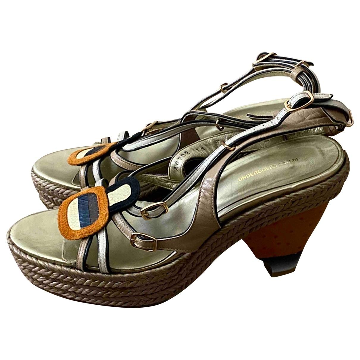 Undercover - Sandales   pour femme en cuir - multicolore