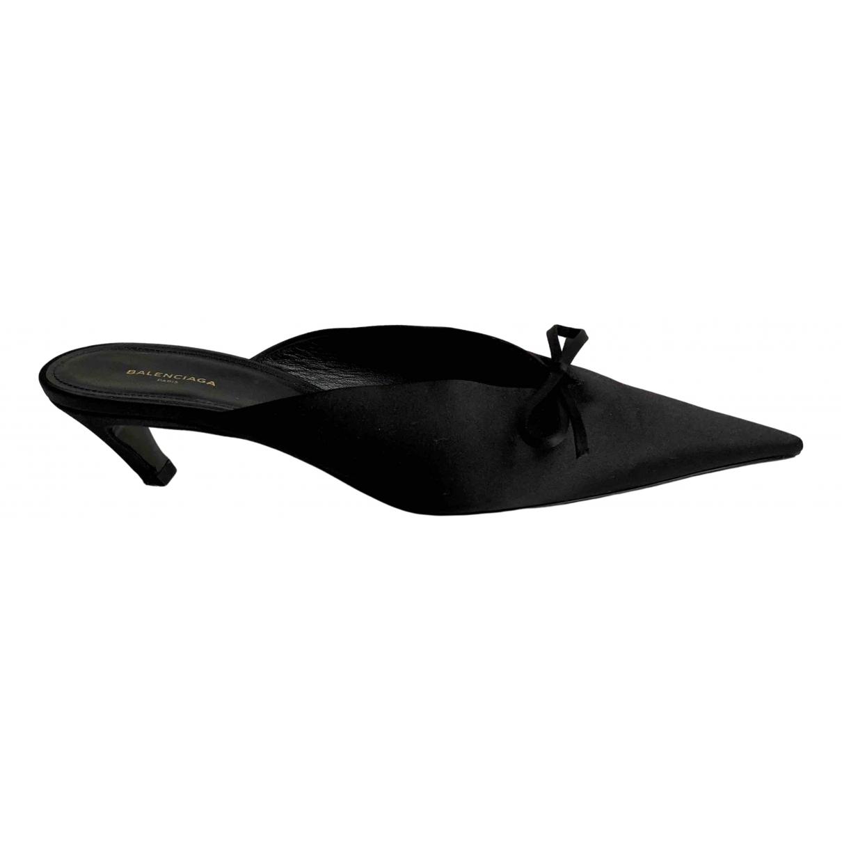 Balenciaga Knife Black Cloth Sandals for Women 39 EU