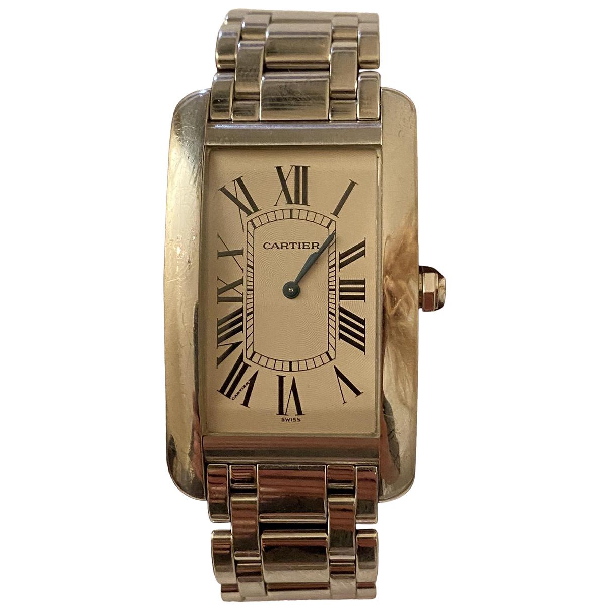 Cartier Tank Americaine Uhr in  Silber Weissgold