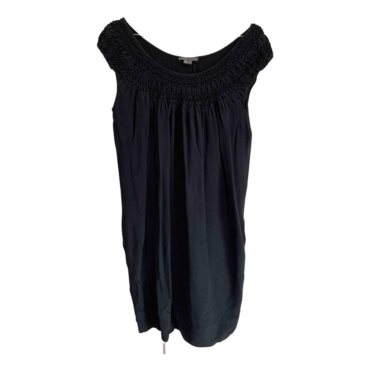 Vince N Black Silk dress for Women 36 FR