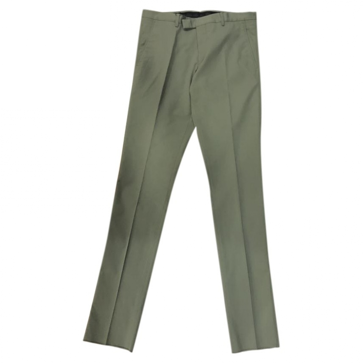 Gucci \N Grey Cotton Trousers for Men 46 IT