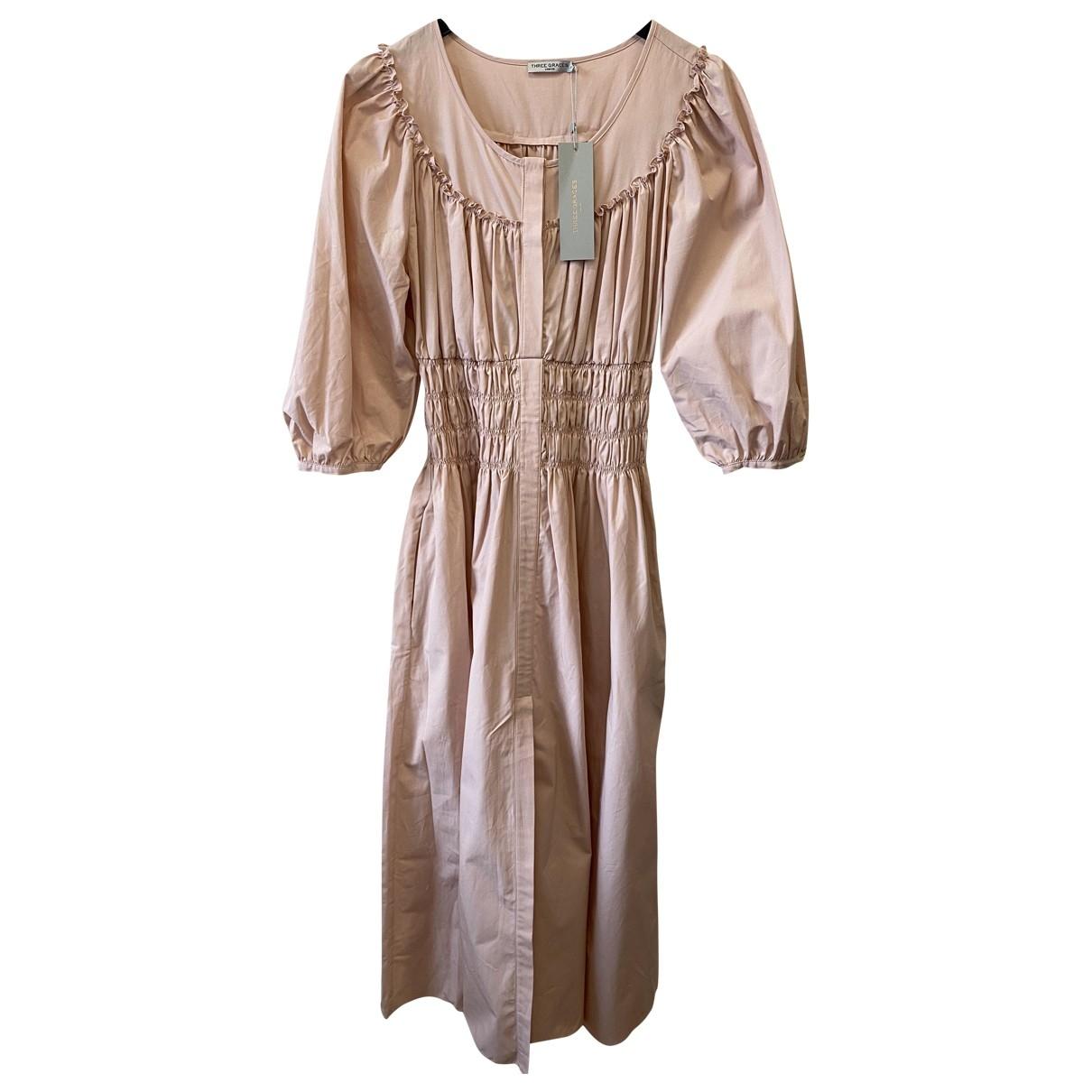 Three Graces London \N Kleid in  Rosa Baumwolle