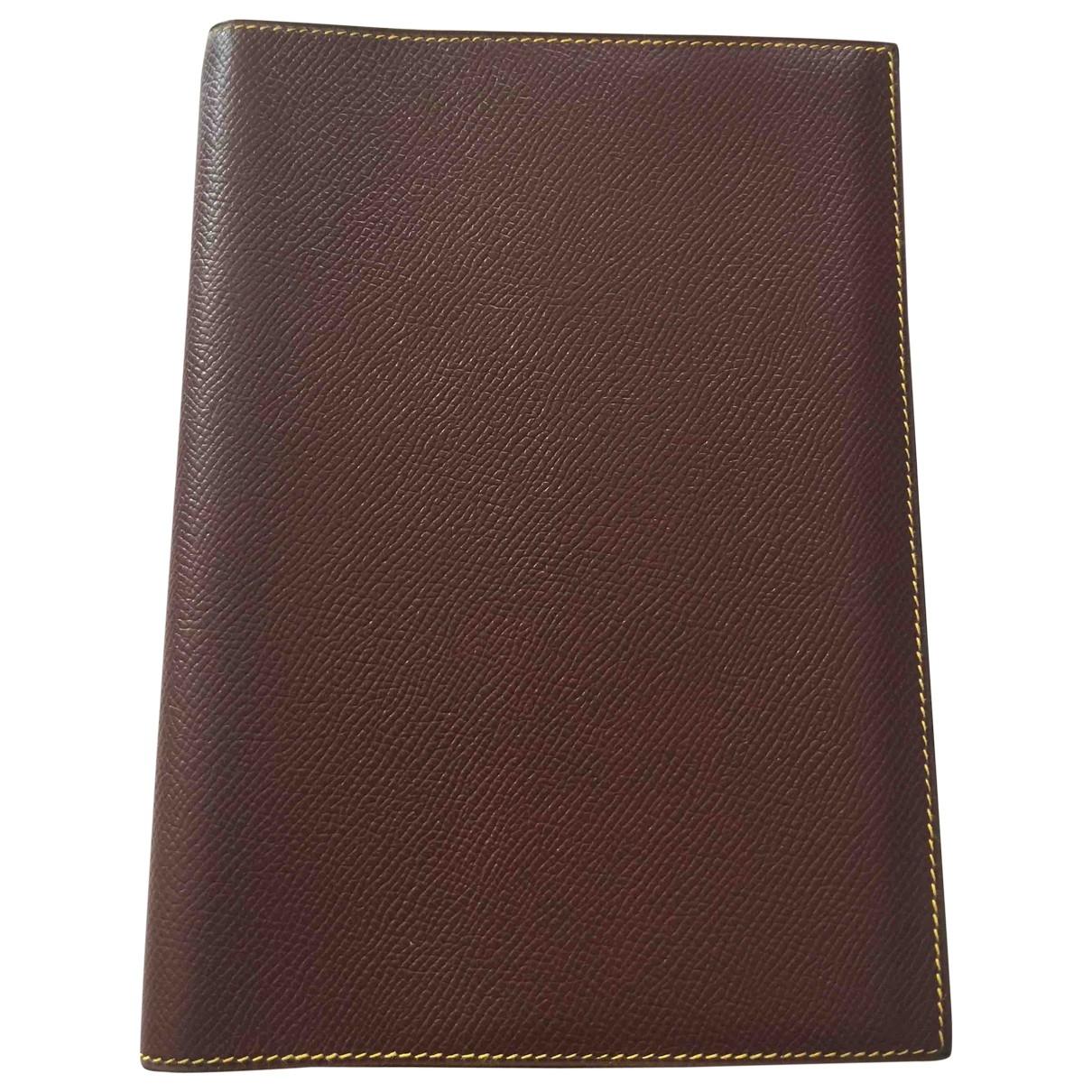 Hermes - Objets & Deco   pour lifestyle en cuir - marron
