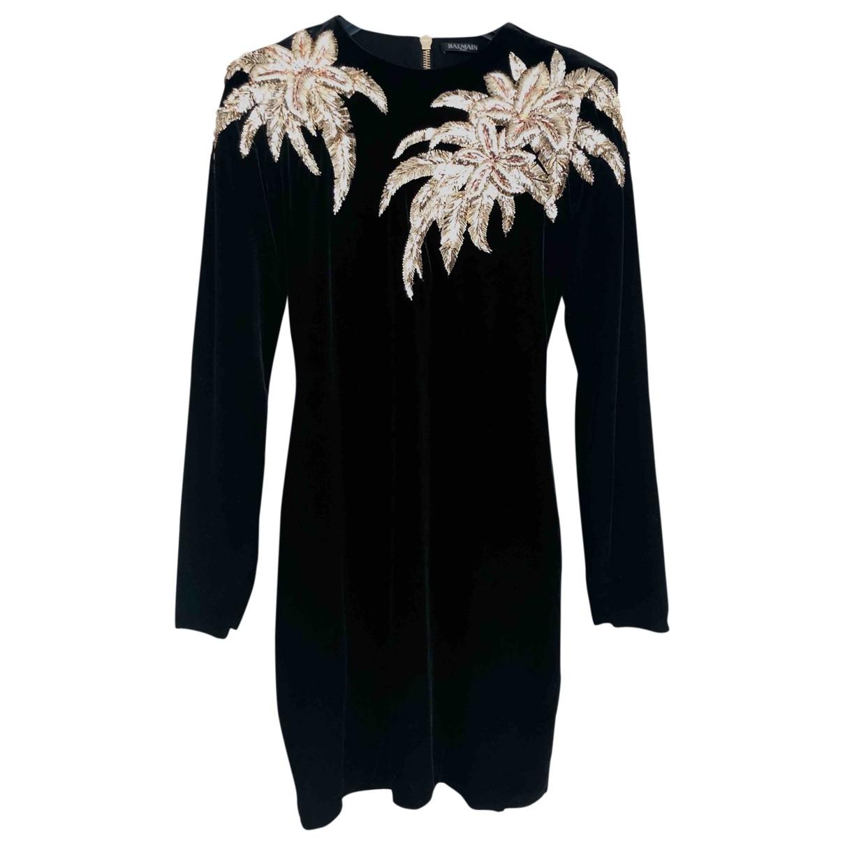 Balmain \N Black Velvet dress for Women 38 FR