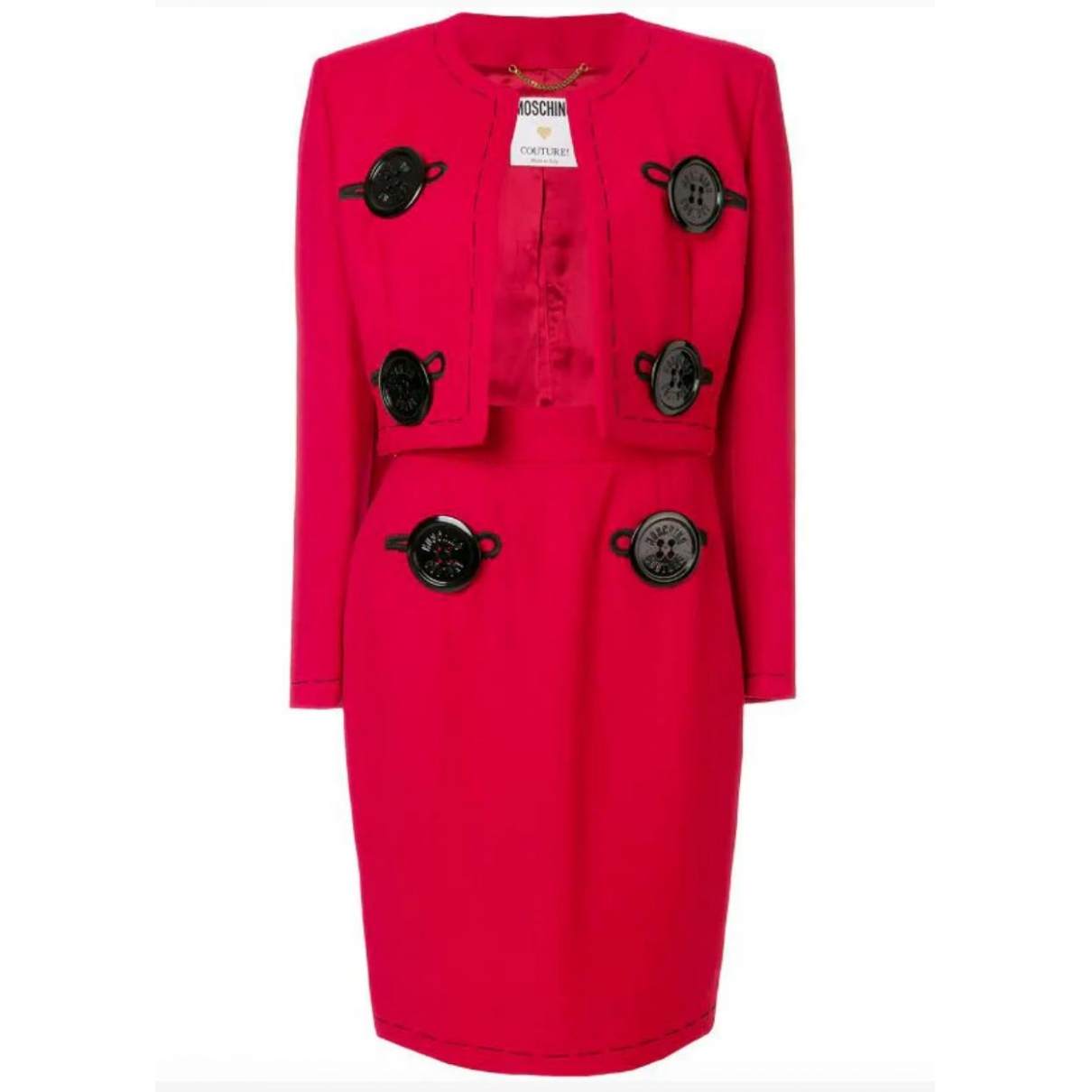 Moschino \N Red Wool jacket for Women 42 IT
