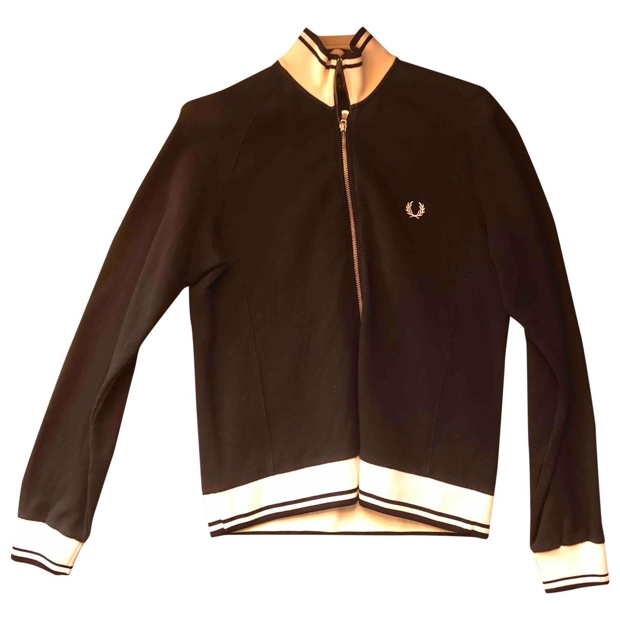 Fred Perry \N Pullover.Westen.Sweatshirts  in  Schwarz Baumwolle
