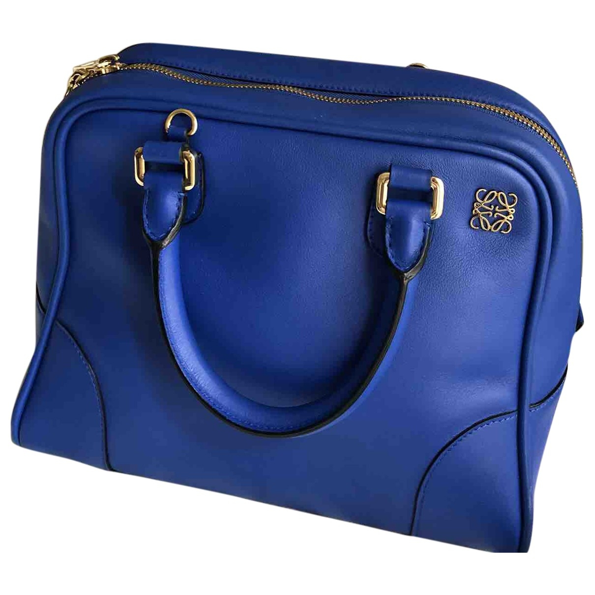 Loewe Amazona 75  Handtasche in  Blau Leder