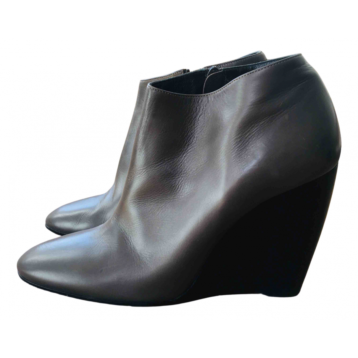 Pierre Hardy N Grey Leather Ankle boots for Women 40 EU
