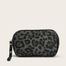 1 Stueck Makeup Tasche mit Leopard Muster