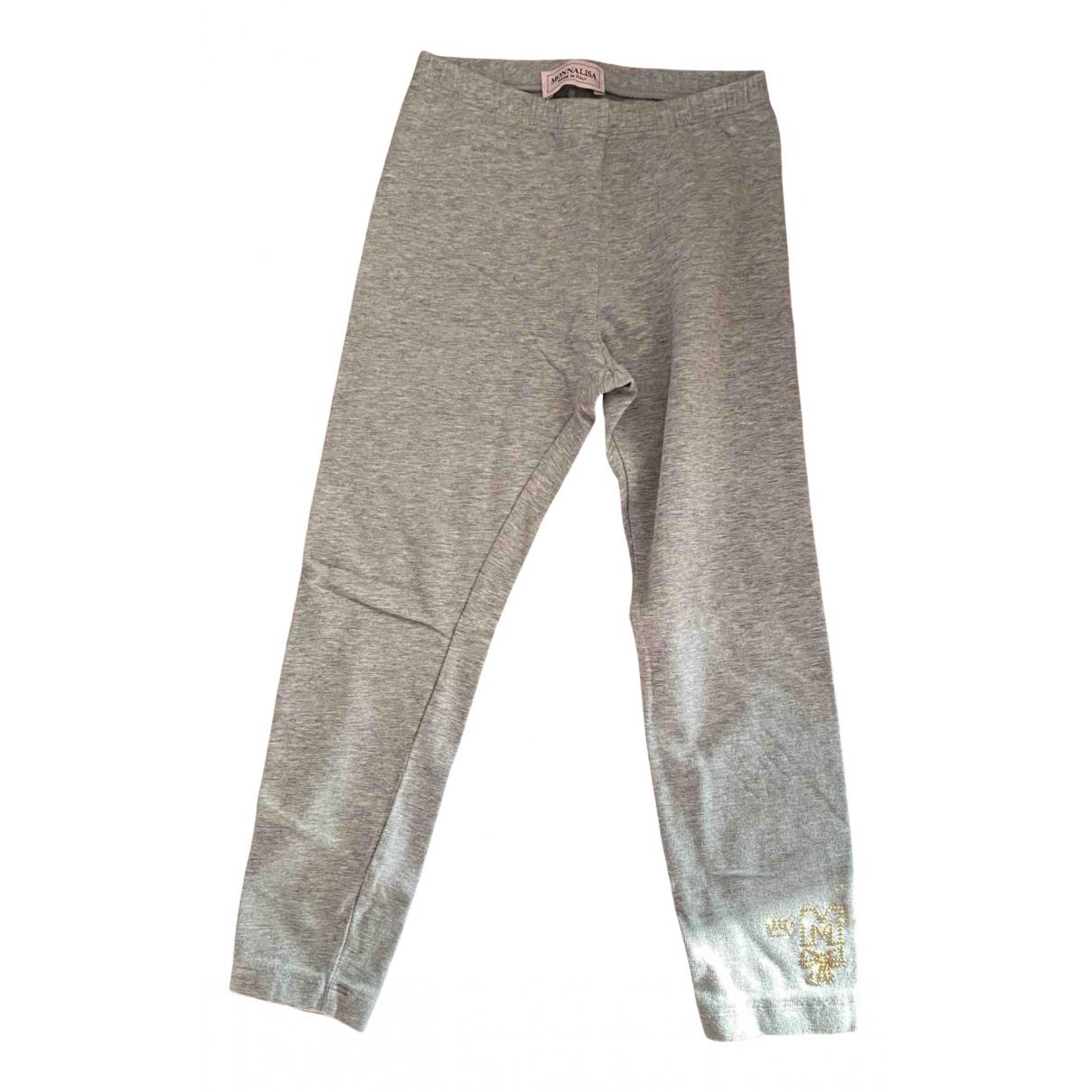 Monnalisa - Pantalon   pour enfant en coton - gris