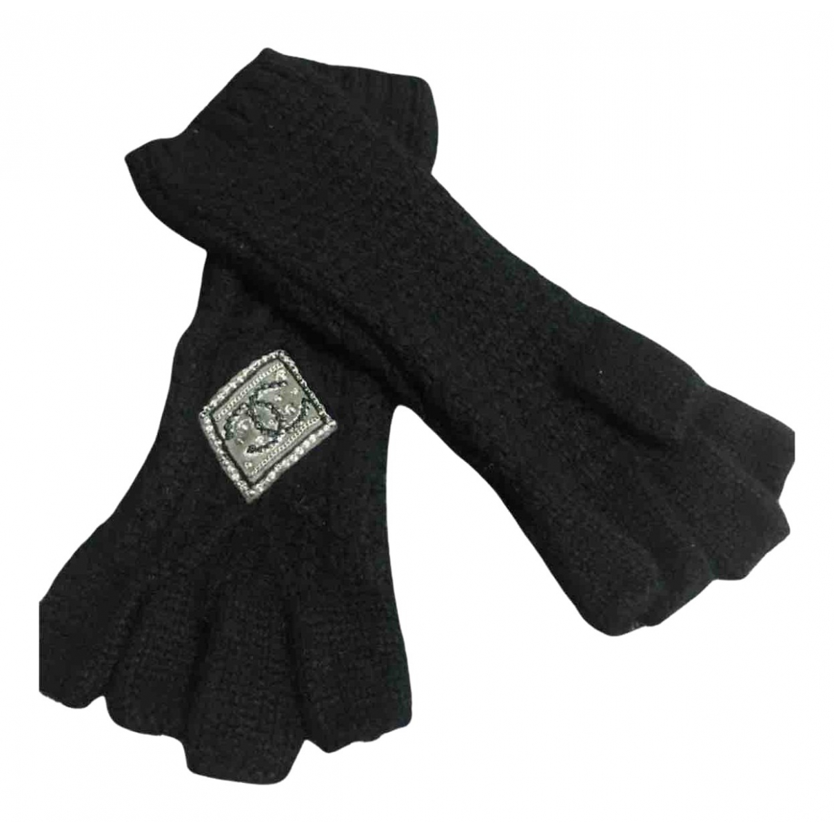 Chanel N Black Cashmere Gloves for Women M International