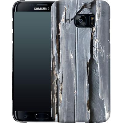 Samsung Galaxy S7 Edge Smartphone Huelle - Wood Black Fence von Brent Williams