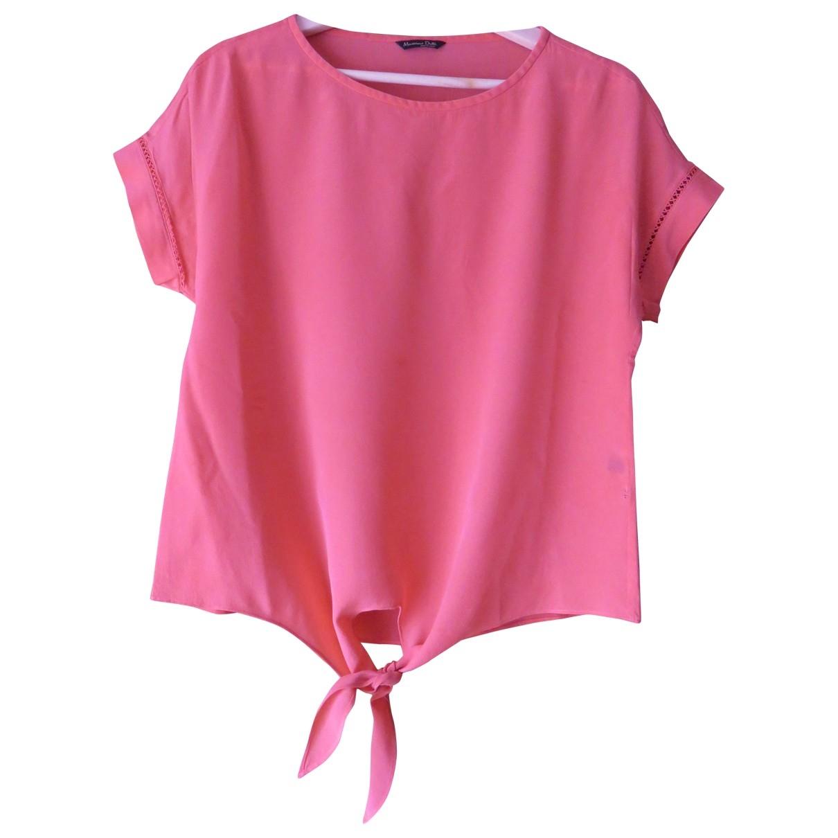 Massimo Dutti - Top   pour femme - rose
