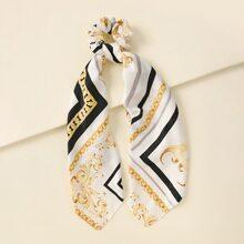 Scrunchie Schal mit Kette Muster