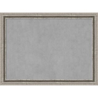 Framed Magnetic Board, Bel Volto Silver (large - 31 x 23-inch)