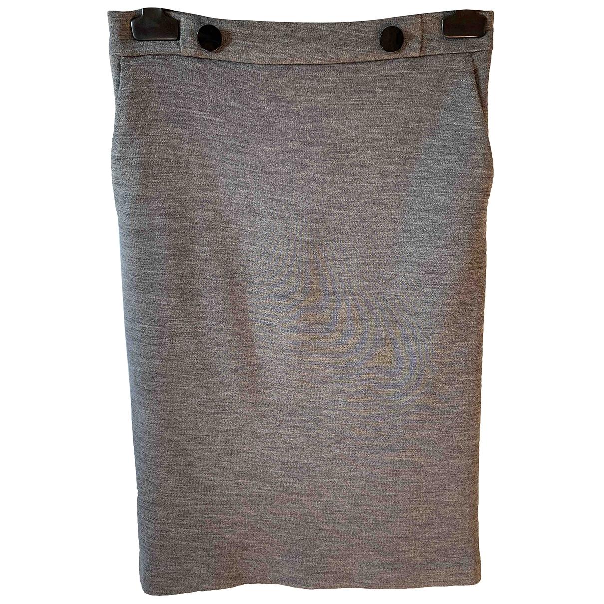 Claudie Pierlot - Jupe   pour femme en laine - gris