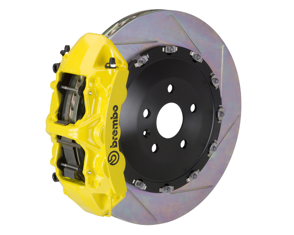 Brembo GT 405x34 2-Piece 6 Piston Yellow Slotted Front Big Brake Kit