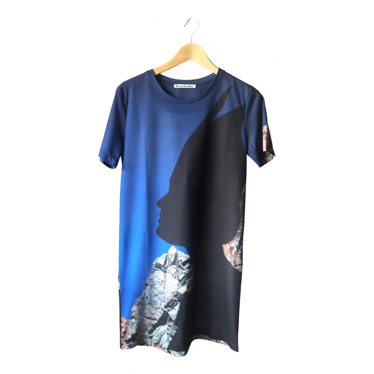 Acne Studios \N Kleid in  Blau Polyester