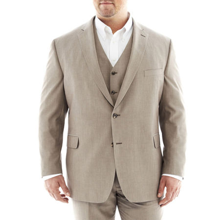 J.F. J Ferrar End on End Suit Jacket—Big&Tall, 54 Big Long, Brown