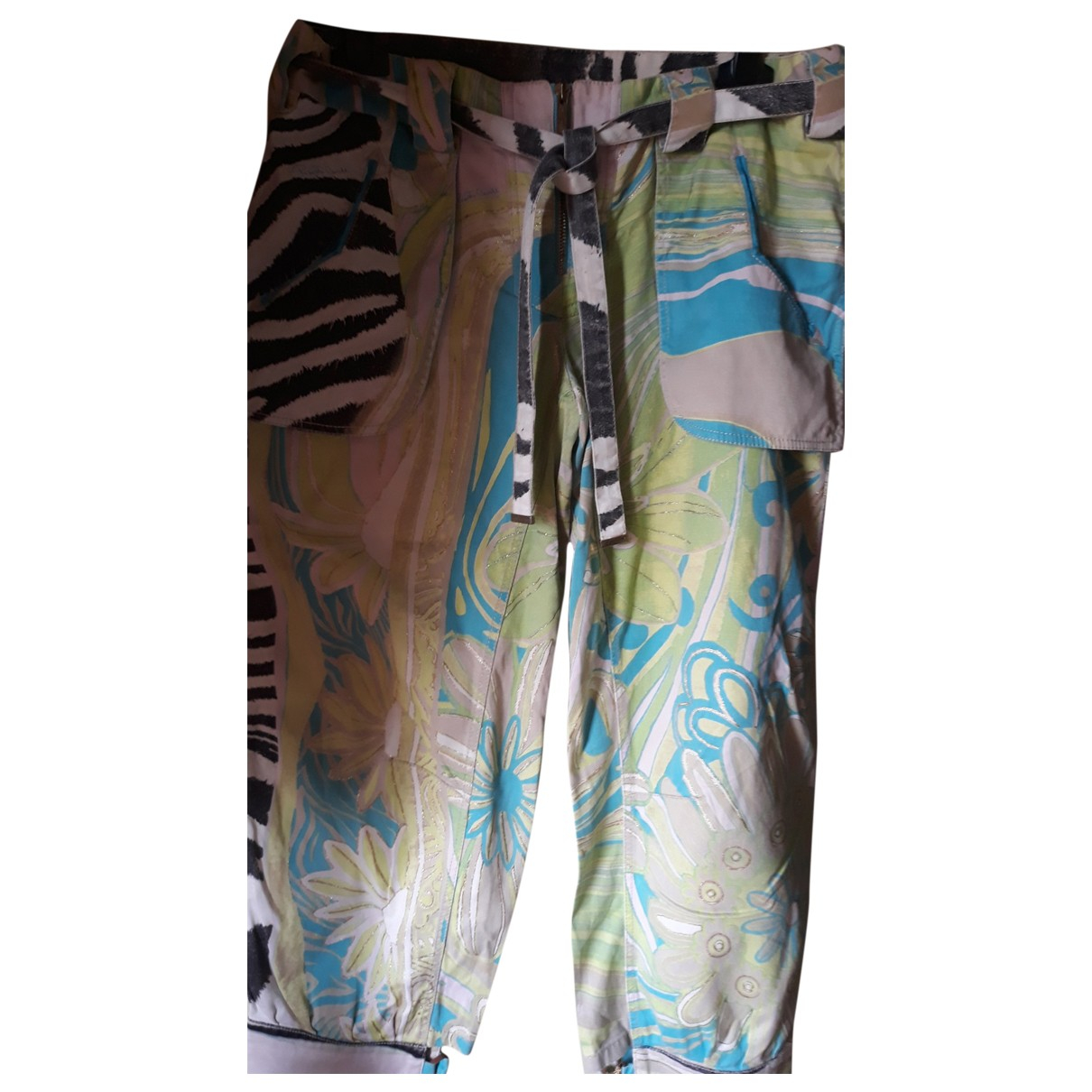 Roberto Cavalli \N Multicolour Cotton Trousers for Women 42 FR